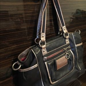 Coach Bags - Coach purse black with silver trim